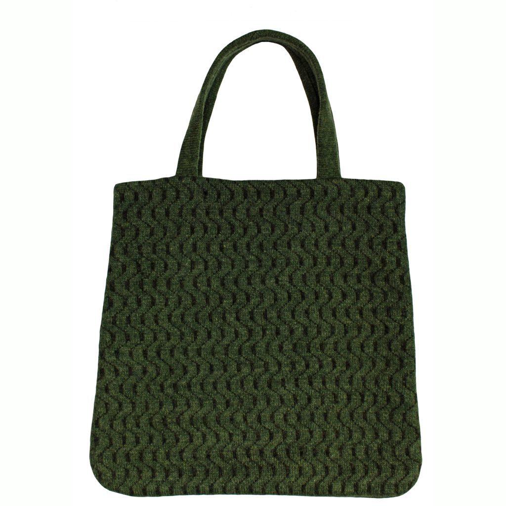 77248304 Geometric Green Tote Bag Front