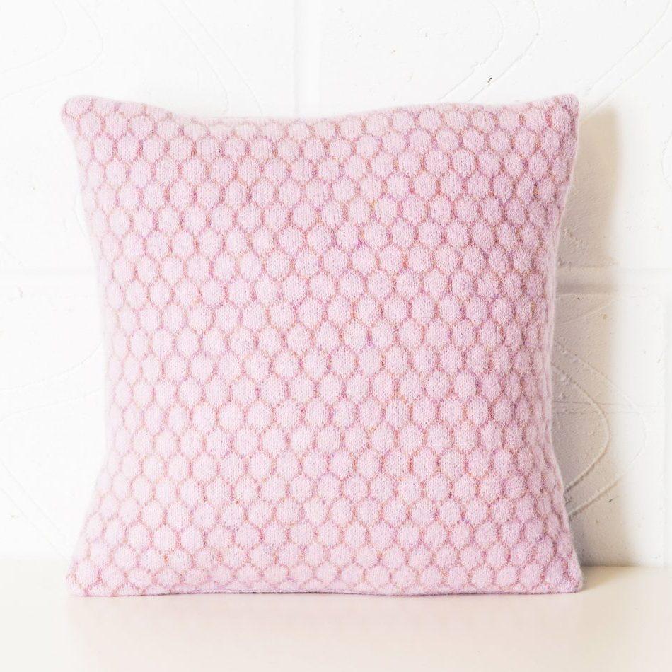 Honeycomb cushion 30 cms sq Pink
