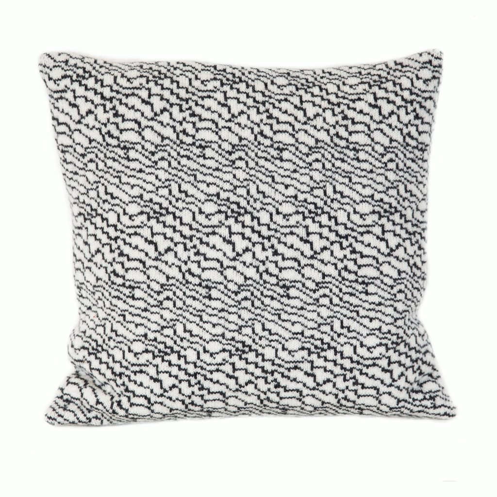 Silver & Graphite strata cushion