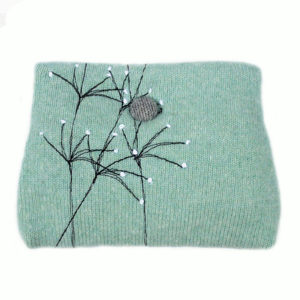 Wildflower button purse Jade