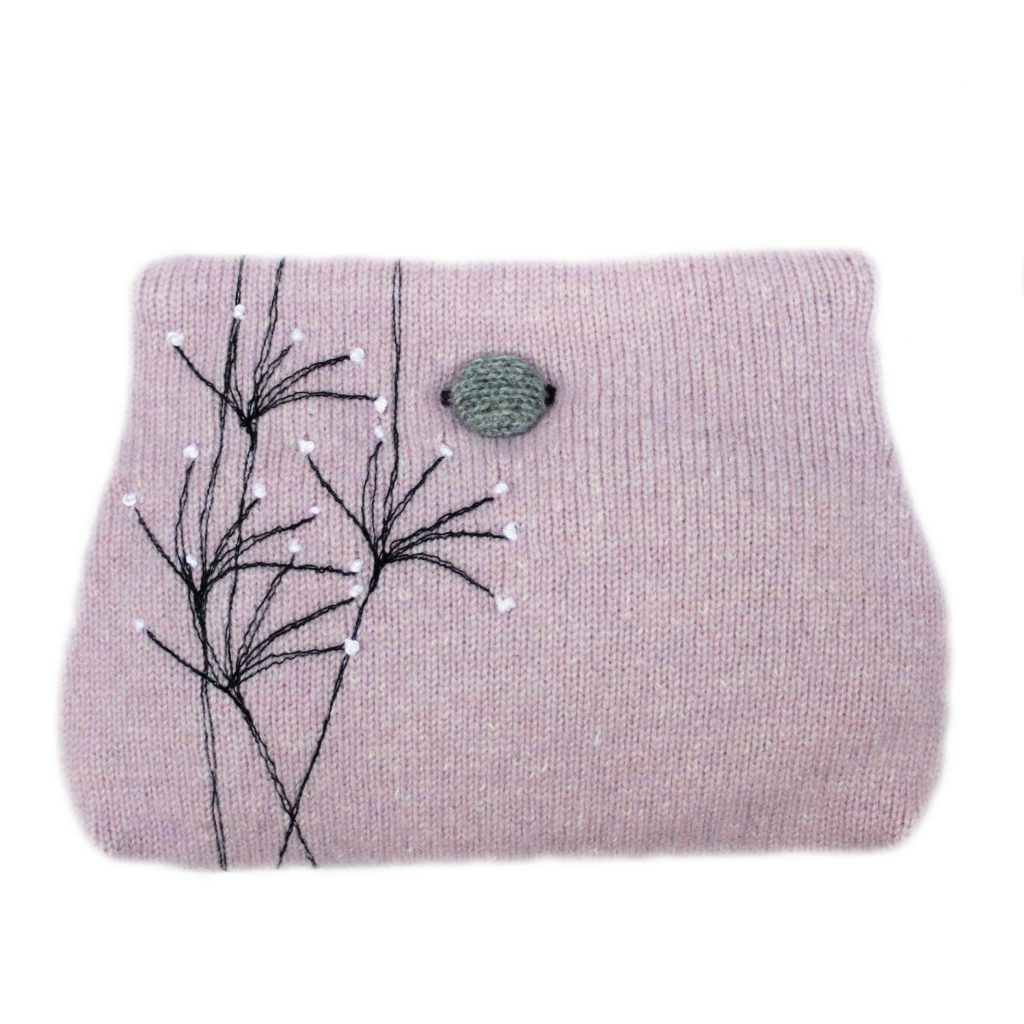 Wildflower button purse Pink