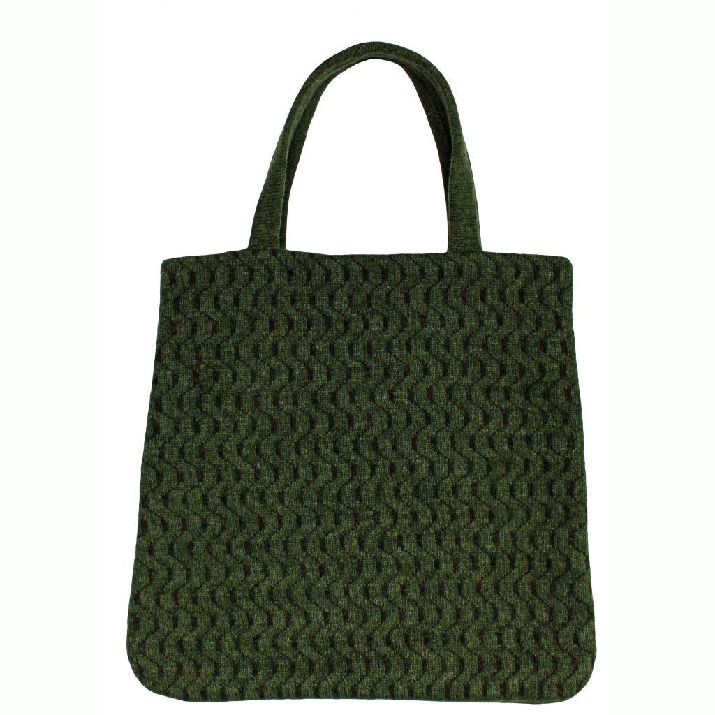 77248304 Geometric Green Tote Bag Front