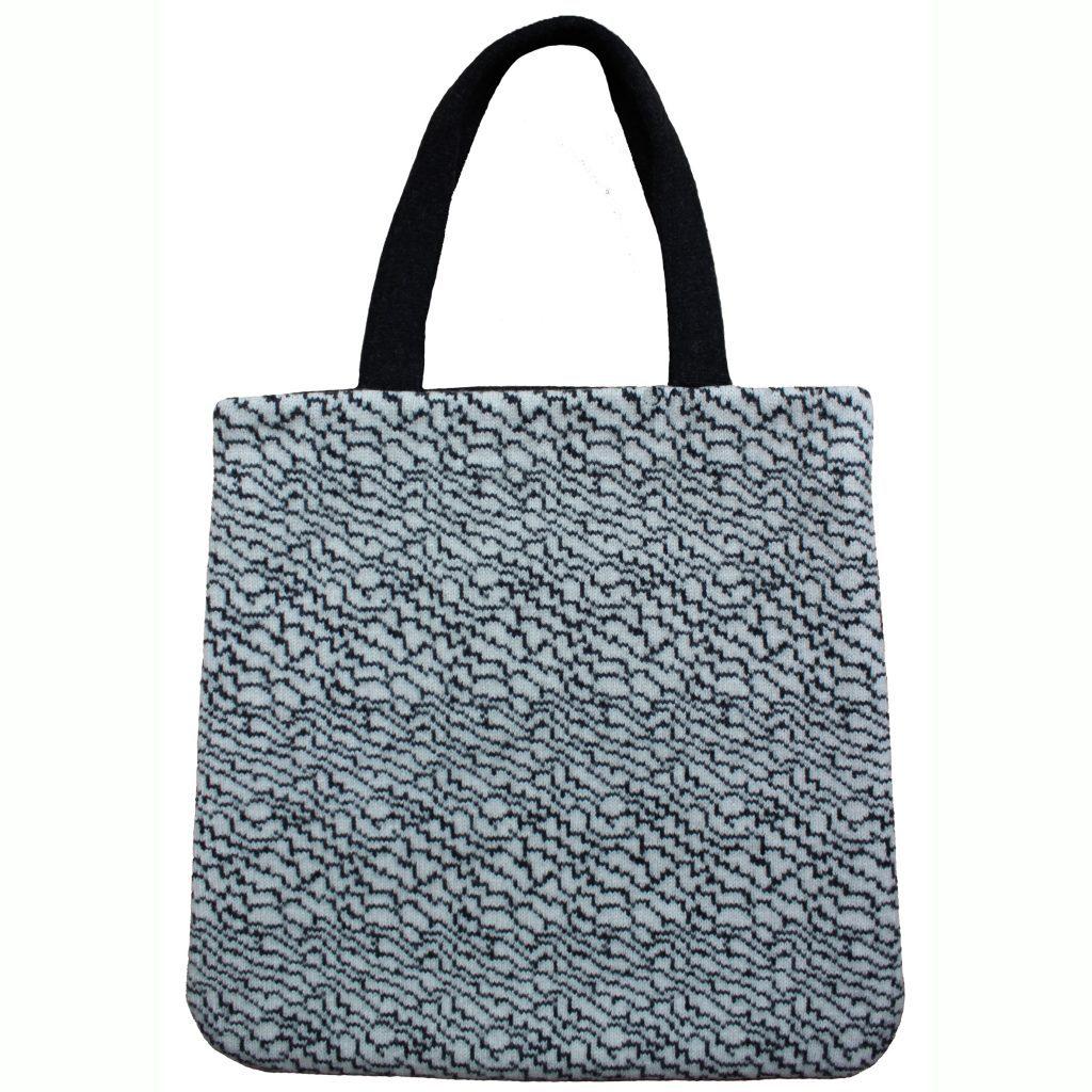 77248306 Geometric Grey Tote Bag Front