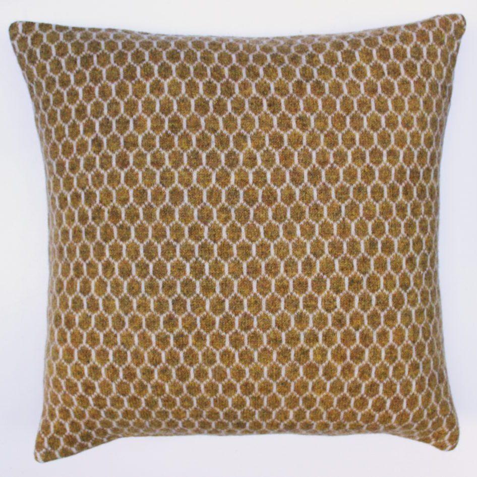 Honeycomb cushion 40 cms sq Mead & Silver
