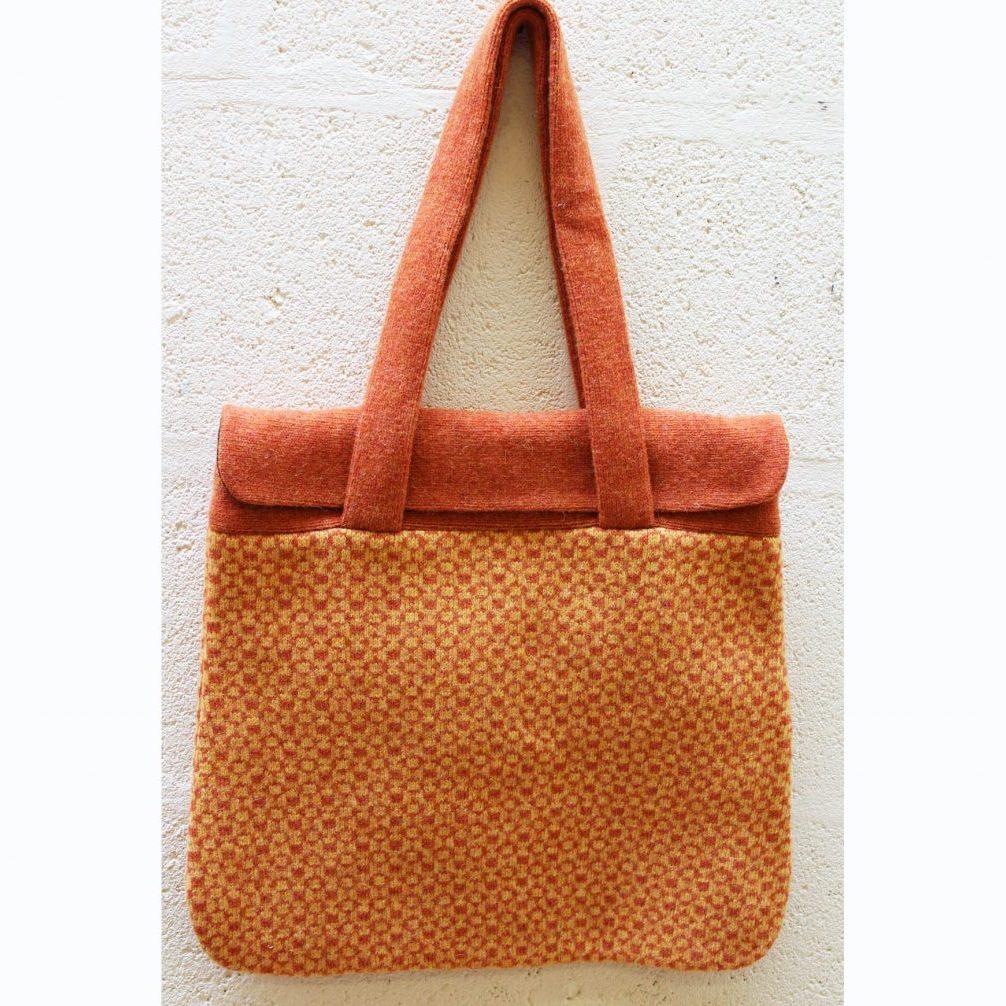 Orange geometric flap