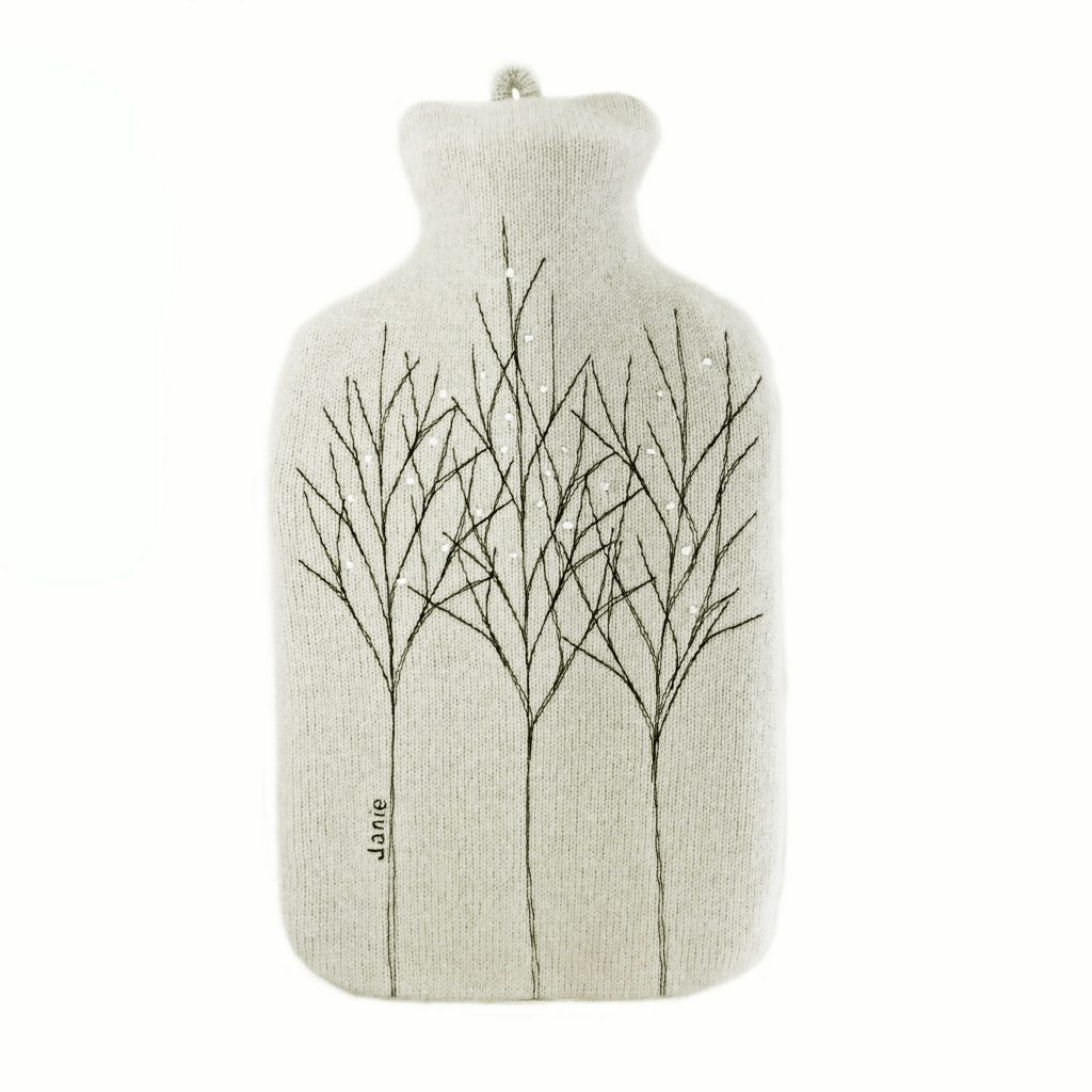 Silver Treeline hot water bottle