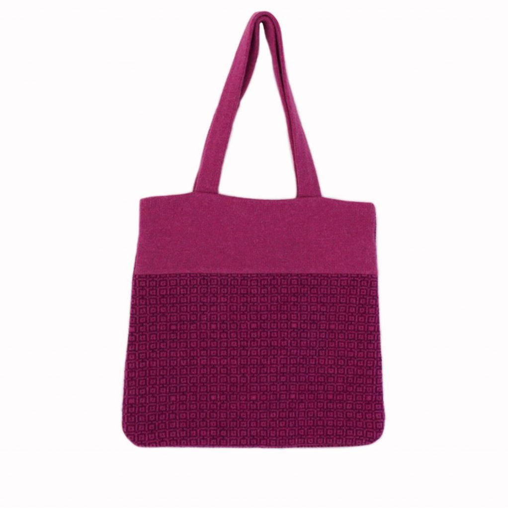 Tile tote pink front