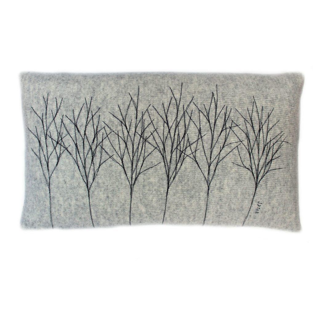 Treeline cushion 30 x 50 cms Ash