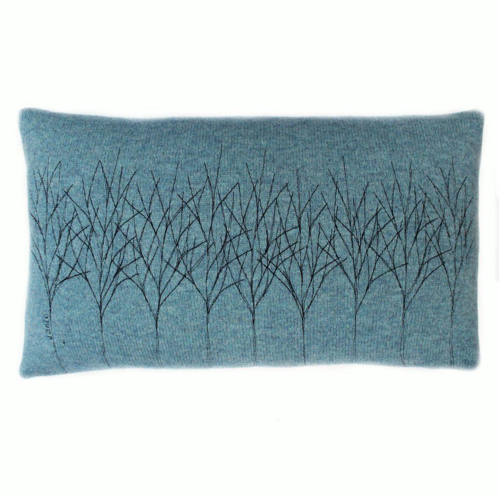 Treeline cushion 30 x 50 cms Topaz