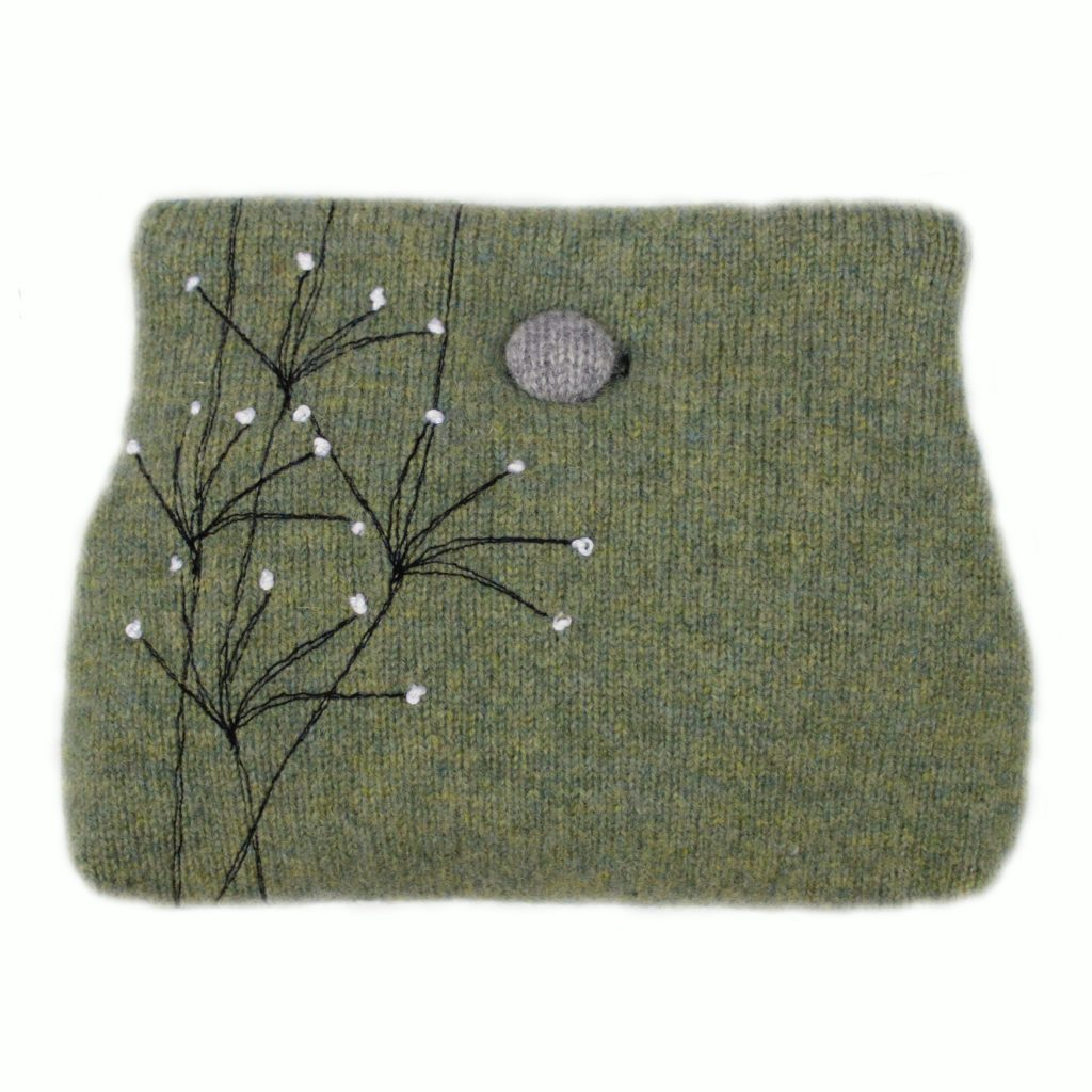 Wildflower button purse Lime Green
