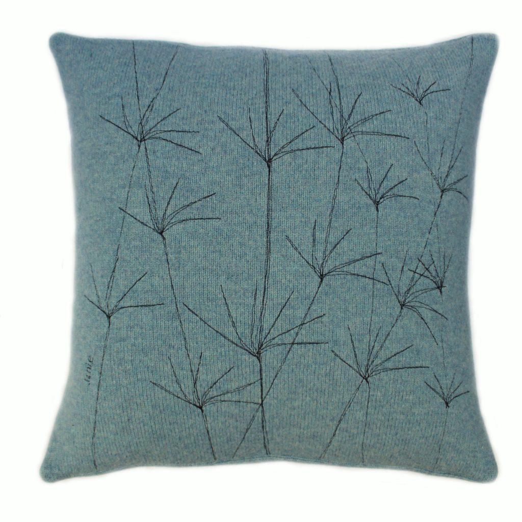 Wildflower cushion 40 cms Topaz