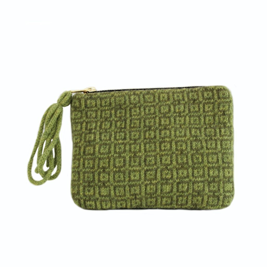 coin purse front green