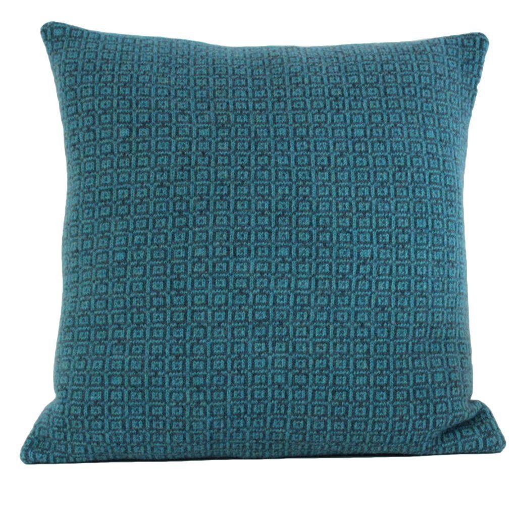 square tile cushion aqua 40 front
