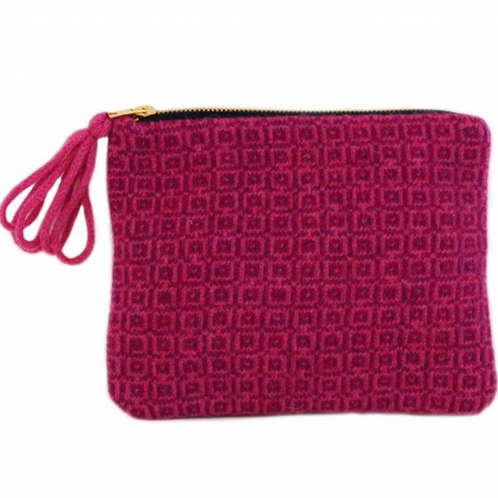 tile purse pink