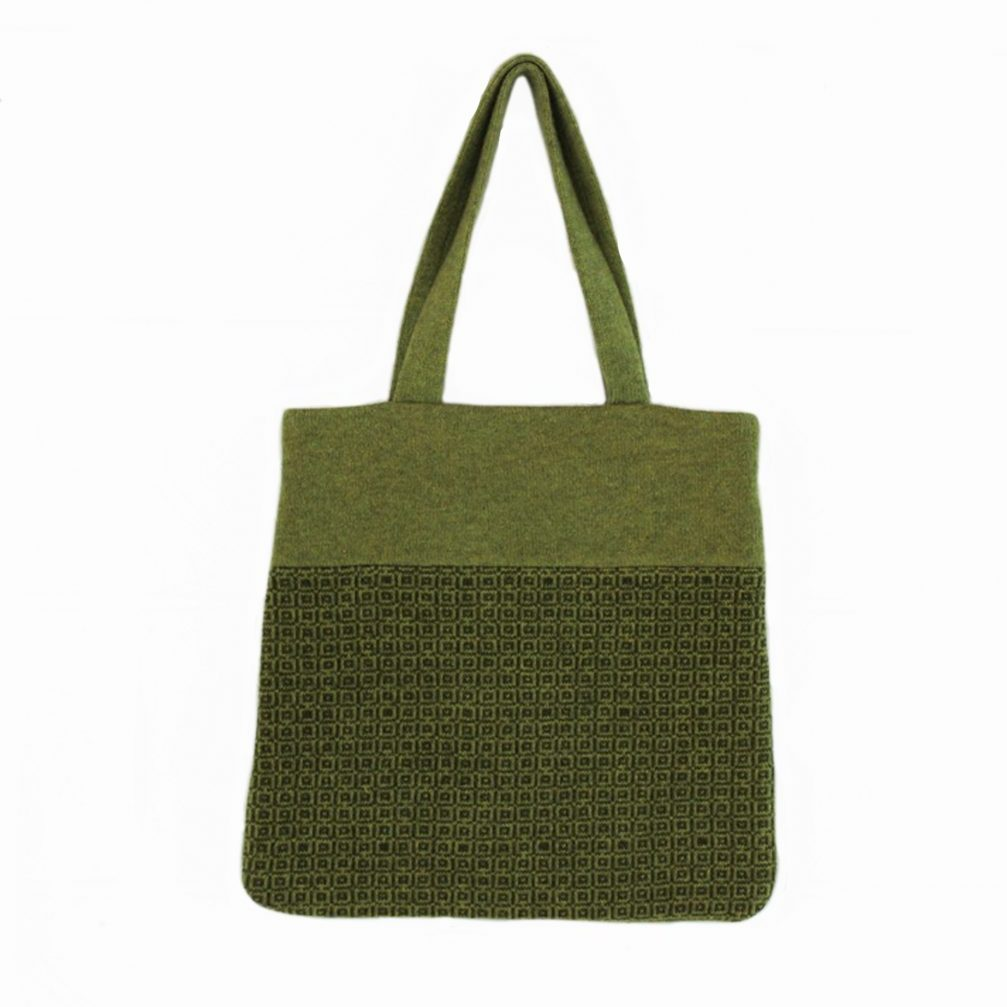tile tote green front